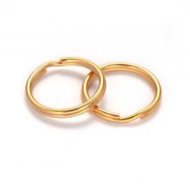 Брелоки из нержавеющей стали 304 для ожерелий для украшений Цвет золота размер 20х2 мм