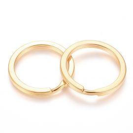 Nerūdijančio plieno 304 raktų žiedai 30x3 mm 2 vnt.