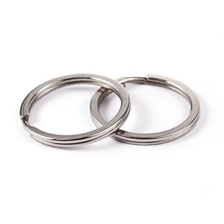 Nerūdijančio plieno 304 raktų žiedai vėriniamsapyrankėmspapuošalams Aukso spalvos dydis 25x2 mm