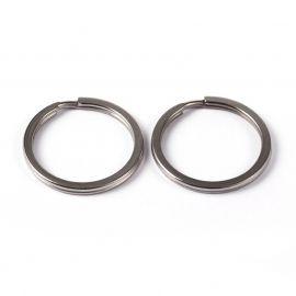 Nerūdijančio plieno 304 raktų žiedai 25x2 mm 5 vnt.