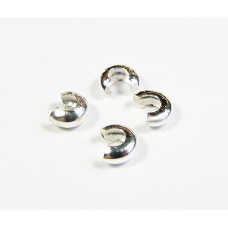 Completion detail, clip concealer, silver color 3 mm