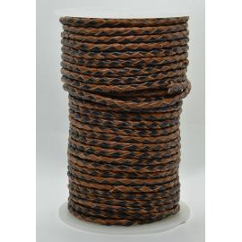 Natūrali pinta odinė virvutė 3 mm 1 metras