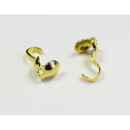 Viimistlusdetail, pigistatav mull, kuld 8,5x3,8 mm