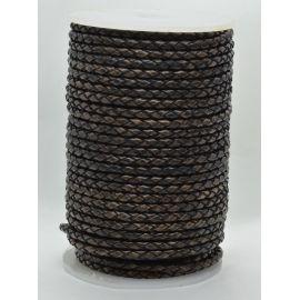 Плетеный шнур из натуральной кожи 3 мм 1 метр