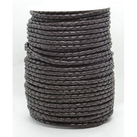 Natūrali pinta odinė virvutė 3,8 mm 1 metras