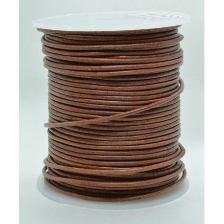 Natūrali odinė virvutė 2 mm 1 metras