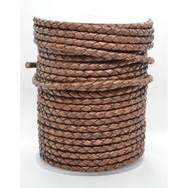 Natūrali pinta odinė virvutė 4 mm 1 metras