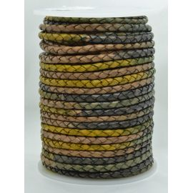Плетеный шнур из натуральной кожи 4 мм 1 метр
