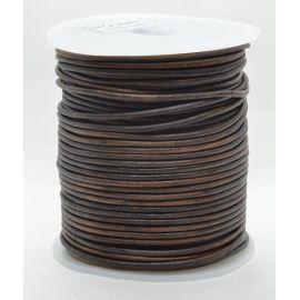 Шнур из натуральной кожи 2 мм 1 метр