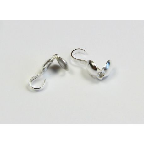 Finish detail, squeezable bubble, silver color 8.5x3.8 mm