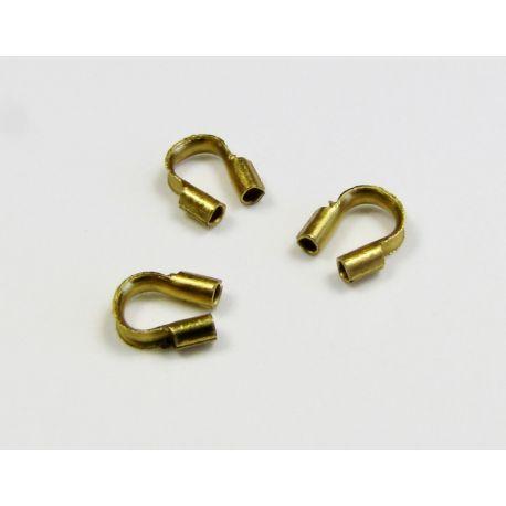 Užbaigimo detalė, apsauga troseliui, sendintos aukso spalvos 5x5 mm