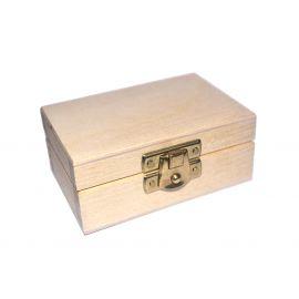 Medinė dėžutė su užsegimu 8,5x5,5x4 cm 1 vnt.