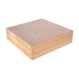 Medinė dėžutė arbatai 29x29x8,5 cm 16 sk. 1 vnt.
