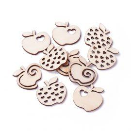 """Wooden decorations """"Apples"""" 3.70 mm 10 pcs."""