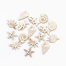 """Деревянные украшения """"Морские животные"""" для ожерелий браслеты бижутерия Цвета дерева Морские животные"""