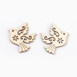 """Puidust kaunistused """"Bird"""" kaelakee käevõrude ehetele Puuvärvi lind"""