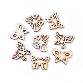 "Wooden decorations ""Butterflies"" 30-35 mm 10 pcs."