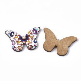 "Wooden decorations ""Butterflies"" 3.44 mm 5 pcs."