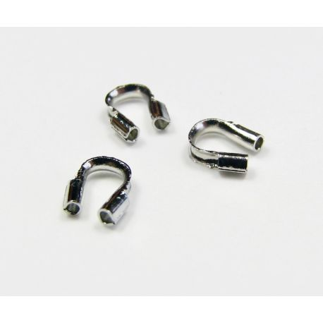 Finishing part, cable protection, nickel colour 4x4 mm