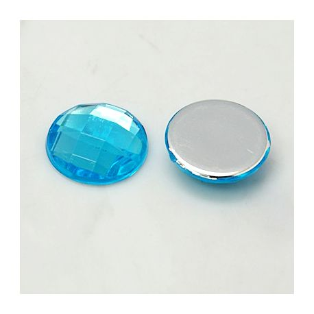 Acrylic cabochon for necklace bracelets for jewelry Blue size 25x6 mm