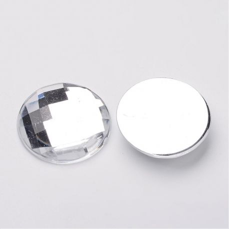 Acrylic cabochon for necklace bracelets for jewelry Transparent color size 25x6 mm