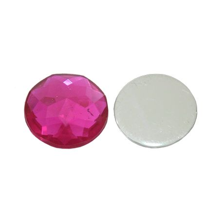 Acrylic cabochon for necklace bracelets for jewelry Bright pink size 16x5 mm