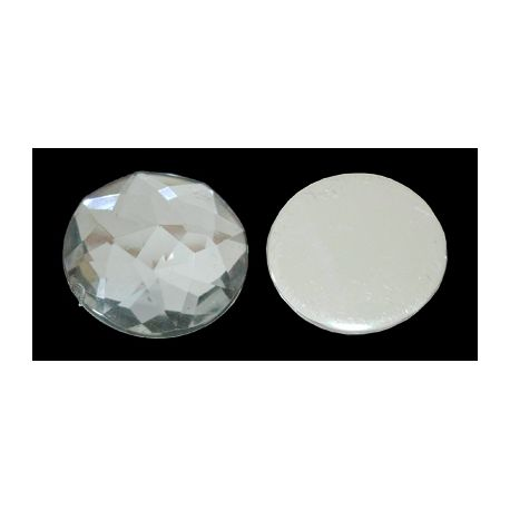 Acrylic cabochon for necklaces for jewelry Transparent size 20x6 mm
