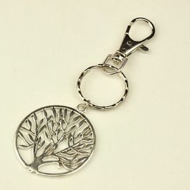 Key ring with carabiner and pendant