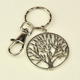 """Key ring with carabiner and pendant """"Tree"""" 40 mm 1 set"""
