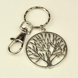 """Raktų žiedas su karabinu ir pakabuku """"Medis"""" 40 mm 1 rink"""