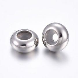 Пробки из нержавеющей стали 304 для ожерелья браслетов ювелирной резины внутри. Серый размер 8х4 мм