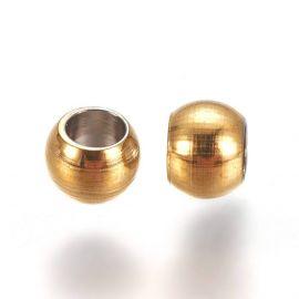 Нержавеющая сталь 304 вставка для колье для украшений Цвет золото размер 3х2 мм круглая форма