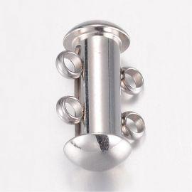 Нержавеющая сталь 304 2 ряда застежка 15х10х6,5 мм 1 шт.