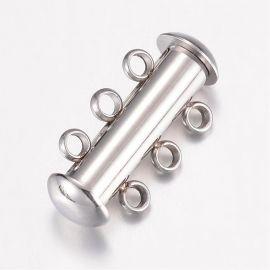 Нержавеющая сталь 304 3-х рядная застежка 20х10х6,5 мм 1 шт.