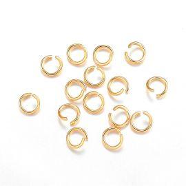 Открытое одинарное кольцо из нержавеющей стали 304 5x0,8 мм ~ 40 шт.