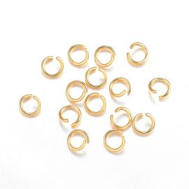Stainless steel 304 open single ring 5x0.8 mm ~ 40 pcs.