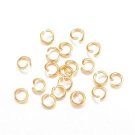 Nerūdijančio plieno 304 viengubi žiedeliai 4x0,6 mm ~40 vnt.