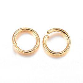 Нержавеющая сталь 304 одинарные кольца для колье бижутерия Цвет золота размер 3х0 4 мм