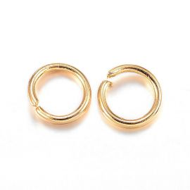 Stainless steel 304 single rings for necklaces jewelry Gold color size 3x0 4 mm