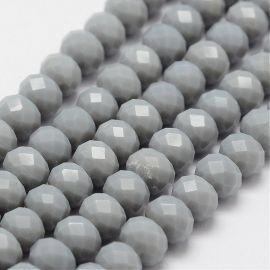 Стеклянные бусины 8х6 мм 1 нить