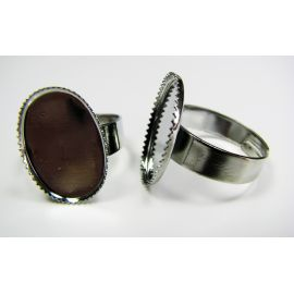 Ring base for cabochon / camouflage 18x13 mm