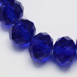 Стеклянные бусины на колье для украшений Ярко-синий размер 10х7 мм круглая форма