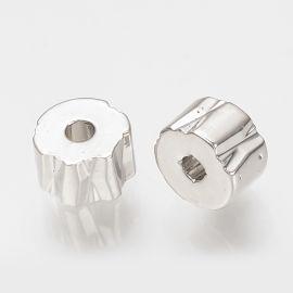 Латунная вставка для колье для украшений Серый размер 5х3 мм круглая форма