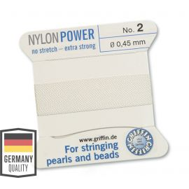 GRIFFIN nylon thread with needle No.2 0.45 mm ~ 2 meters.