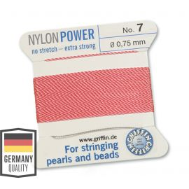 GRIFFIN nylon thread with needle No.7 0.75 mm ~ 2 meters.