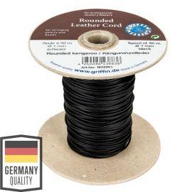 Genuine kangaroo leather cord 1.00 mm 1 meter