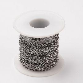 Nerūdijančio plieno 304 grandinėlė 3 mm ~5 m.