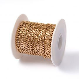 Nerūdijančio plieno 304 grandinėlė 5x3 mm 0,8 mm ~10 metrų