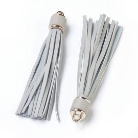 Zomšiniai kutai vėriniamsapyrankėmspapuošalams Šviesiai pilkos spalvos dydis 110-115x15 mm