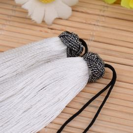 Nylon tassels for necklaces for jewelry White size 60-65x10 mm